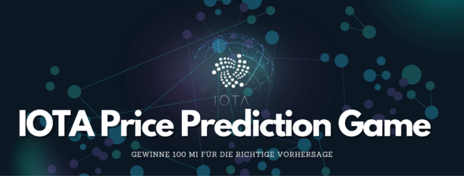 IOTA Price Prediction Game Gewinnspiel